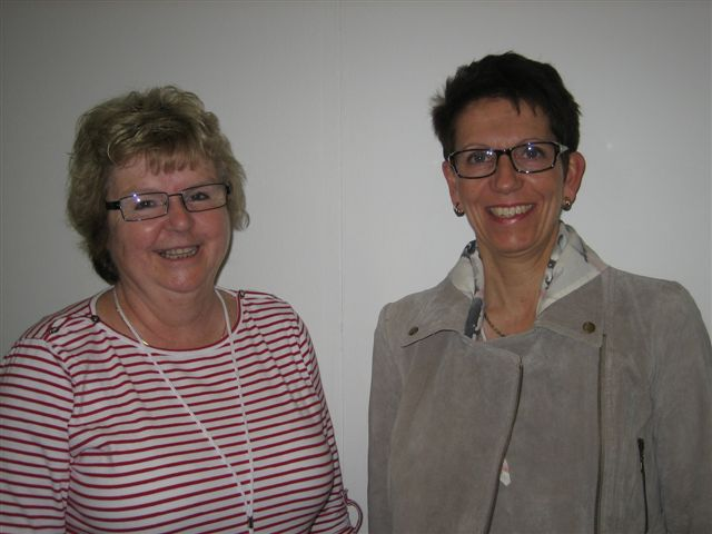 Lena Haglund, Congress Co-president and Susanne Iwarsson, keynote speaker