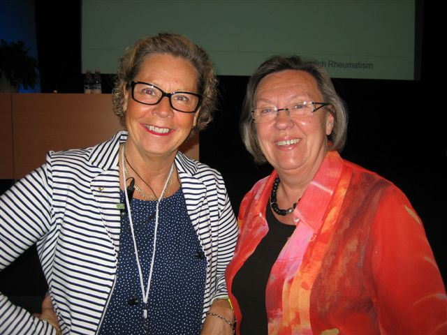 Anne Carlsson, keynote speaker on 27 May 2012 and Inga-Britt Lindström, Co-president